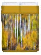 Surreal Aspen Tree Magic Abstract Art Duvet Cover