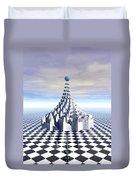 Surreal Fractal Tower Duvet Cover