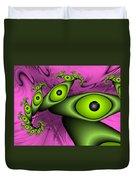 Surreal Green Eyes Fractal Duvet Cover