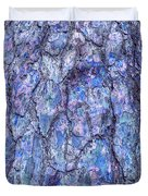 Surreal Patterned Bark In Blue Duvet Cover