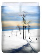 Surreal Snowscape Duvet Cover