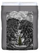 Surrounded Green Tree Duvet Cover