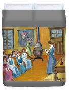 Susan B. Anthony Teaching In Canajoharie Duvet Cover