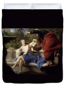 Susanna And The Elders, 1751 Duvet Cover