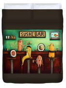 Sushi Bar Improved Image Duvet Cover