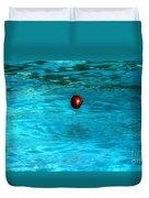 Suspended Apple Duvet Cover