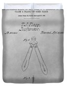 Suspender Patent Drawing Duvet Cover