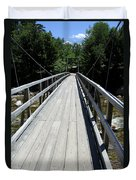 Suspension Bridge Over Pemigewasset River Nh Duvet Cover