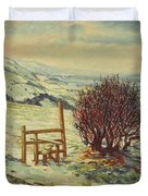 Sussex Stile, Winter, 1996 Duvet Cover