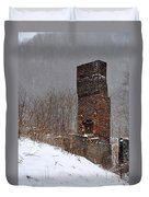 Sutherland Chimney In Winter Number One Duvet Cover