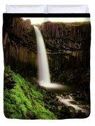 Svartifoss Waterfall, Skaftafell Duvet Cover