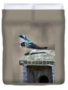 Swallow In The Wind Duvet Cover