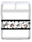 Swallows With Lilies No. 5 Duvet Cover