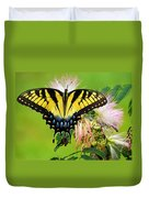Swallowtail And Mimosa Duvet Cover