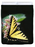 Swallowtail Butterfly And Milkweed Flowers Duvet Cover