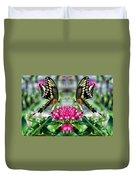 Swallowtail Butterfly Digital Art Duvet Cover