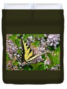 Swallowtail On Lilacs Duvet Cover