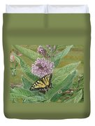 Swallowtail On Milkweed Duvet Cover