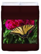 Swallowtail On Peony Duvet Cover