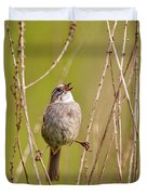 Swamp Sparrow Split Decision Duvet Cover