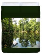Swampland Reflection At The Plantation Duvet Cover