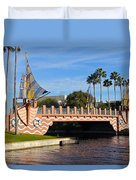 Swan And Dolphin Resort Bridge Duvet Cover