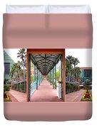 Swan And Dolphin Resort Walt Disney World 3 Panel Composite Duvet Cover