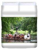 Swan Boat - Boston Duvet Cover