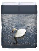 Swan Circles Duvet Cover