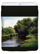 Swan Creek Duvet Cover by Janet King