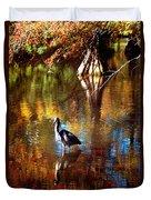 Swan Lake Heron II Duvet Cover