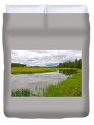 Swan Lake In Grand Teton National Park-wyoming  Duvet Cover
