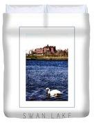 Swan Lake Poster Duvet Cover