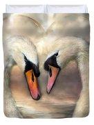 Swan Love Duvet Cover