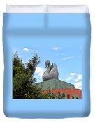 Swan Resort Statue Walt Disney World Duvet Cover