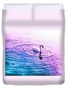 Swan Ripples Duvet Cover