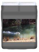 Swan Skid Duvet Cover