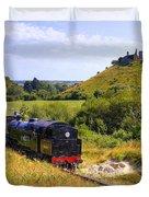 Swanage Steam Railway Duvet Cover