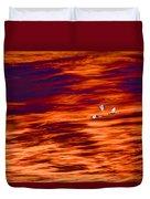 Swans Flying Duvet Cover