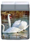 Swans Duvet Cover by Gary Heller