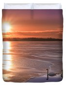 Swans Sunrise Duvet Cover