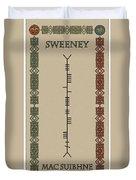Sweeney Written In Ogham Duvet Cover