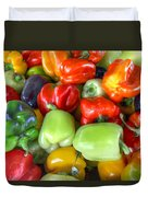 Sweet Bell Peppers Assorted Colors Duvet Cover