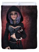 Sweet Betty With Gothic Doll Duvet Cover