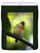 Sweet Bird On Branch Duvet Cover