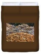 Sweet Corn And Husks Duvet Cover