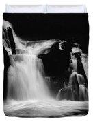 Sweet Creek Falls Oregon Monochrome Duvet Cover