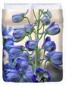 Sweet Delphinium Duvet Cover