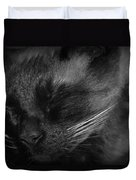 Sweet Dreams In Black And White Duvet Cover