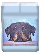 Rottweiler's Sweet Face Duvet Cover